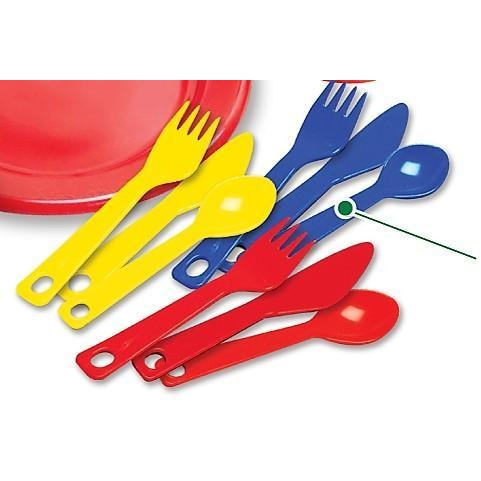 Spoon For Kids Play Dishes - 29 Piece with Drainer - Kidzlane