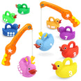Duck Fishing Game - 2 Toy Fishing Poles - 9 Rubber Duckies