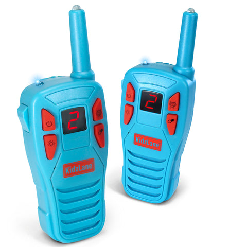 Kidzlane Voice Changing Walkie Talkies for Kids - 2 Mile Range, 8 Channels, Flashlight, & Call Alert