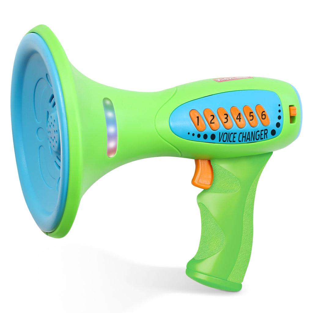 Kidzlane Voice Changer for Kids with Megaphone Function, LED Lights and 5 Different Sound Effects - Kidzlane
