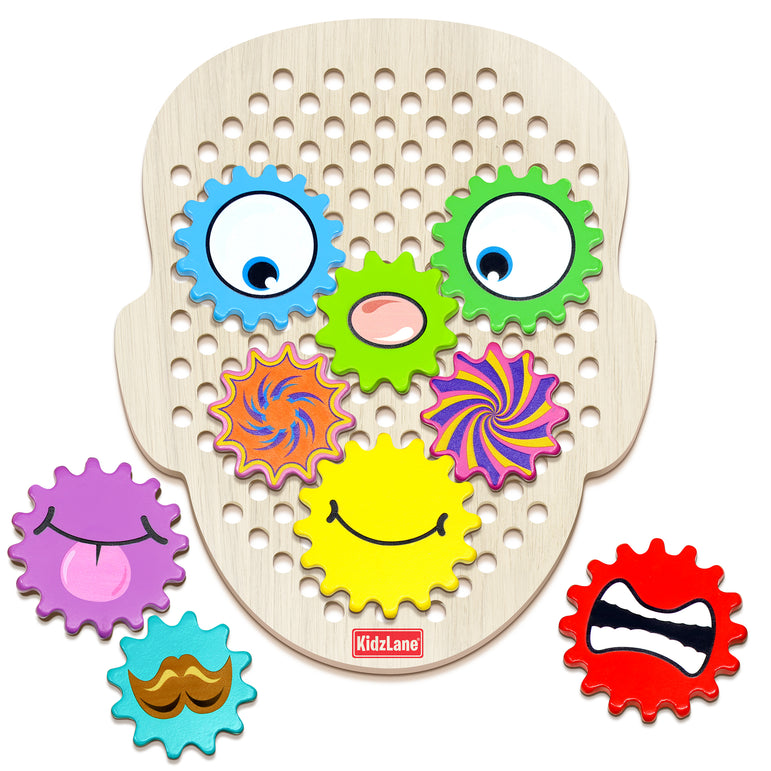 Gear Head Wooden Building Toys - Kidzlane