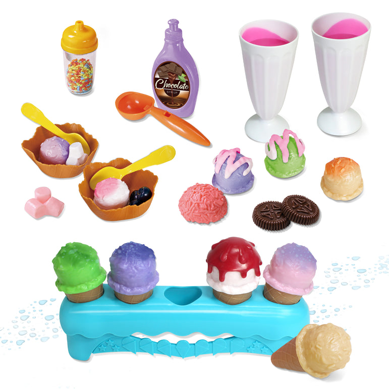 34 Piece Color Changing Ice Cream Set