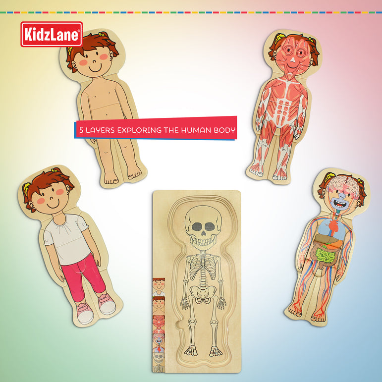 Wooden My Body Puzzle - Girl