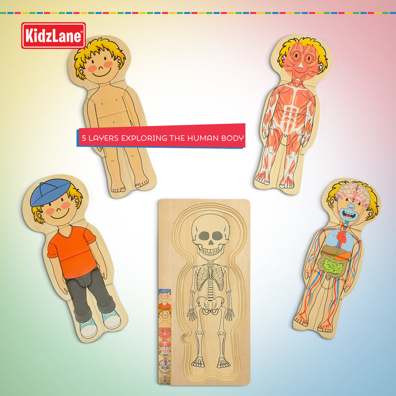 Wooden My Body Puzzle - Boy