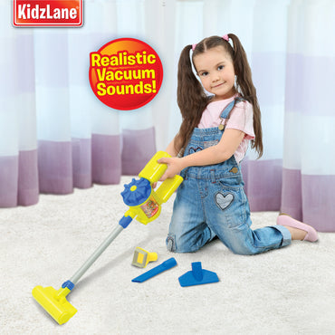 Kidzlane Handheld Toy Vacuum Cleaner - Pretend Play Vacuum for Toddlers & Kids with Sound Effects & Ball-Popping Action