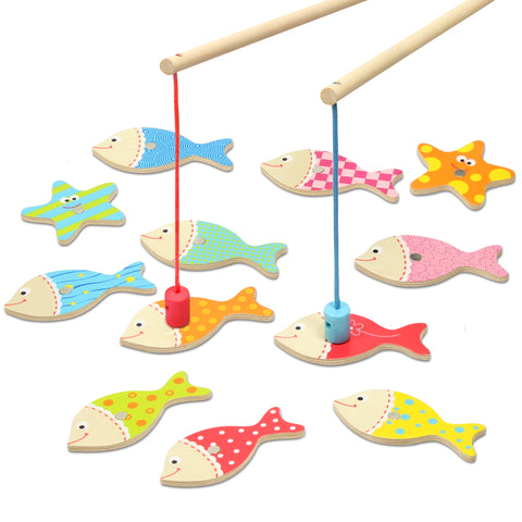 Magnetic Wooden Fishing Game