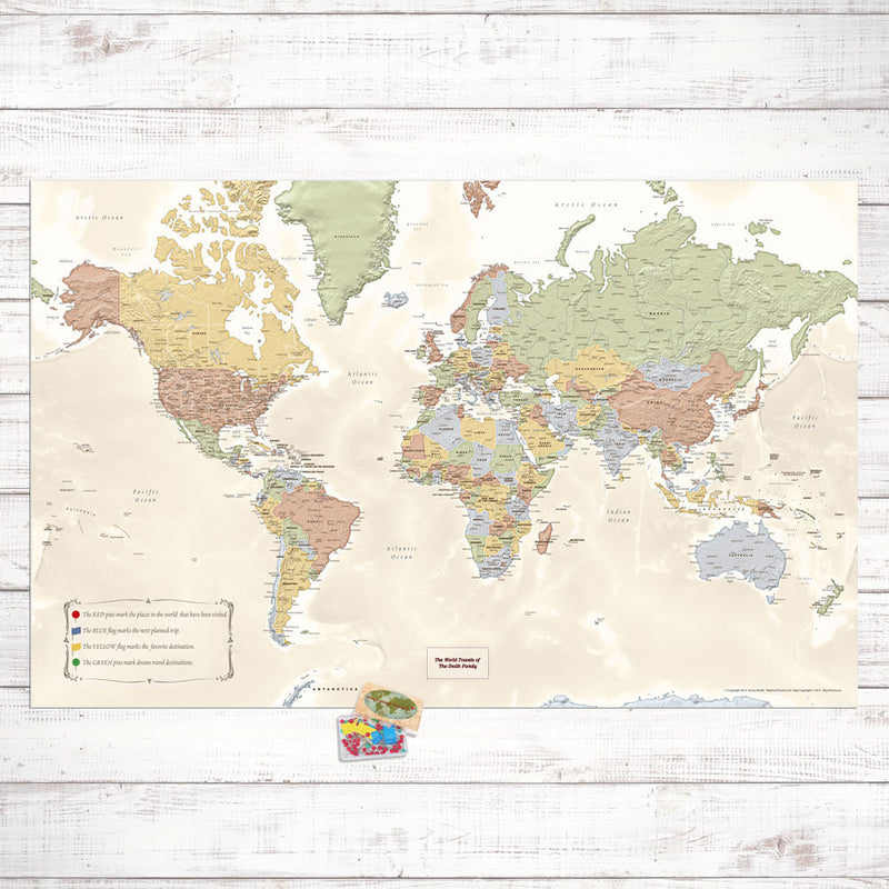 DIY World Travel Map Set