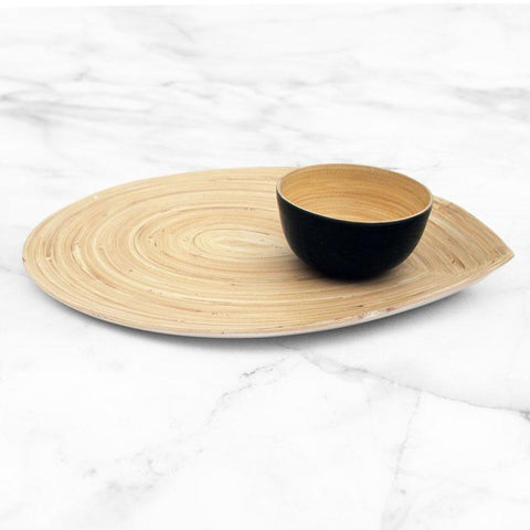 Bamboo Chip and Dip Set