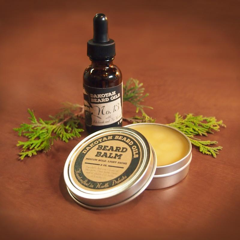 Beard Oil and Beard Balm Set for men