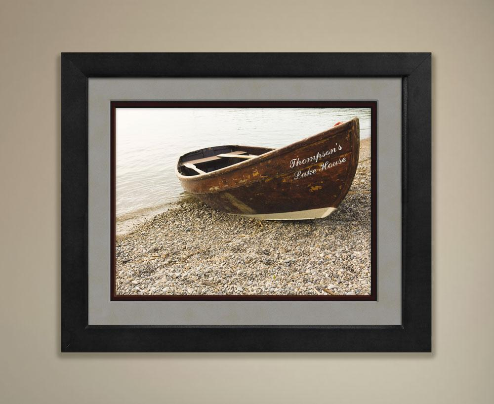 Personalized Boat Print