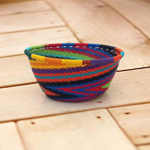 Rainbow Zulu Wire Bowl
