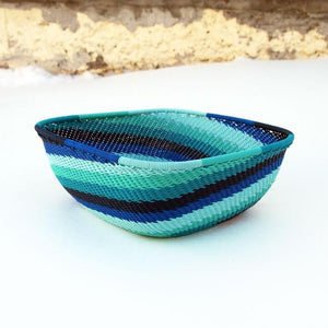 Blue Zulu Wire Bowl