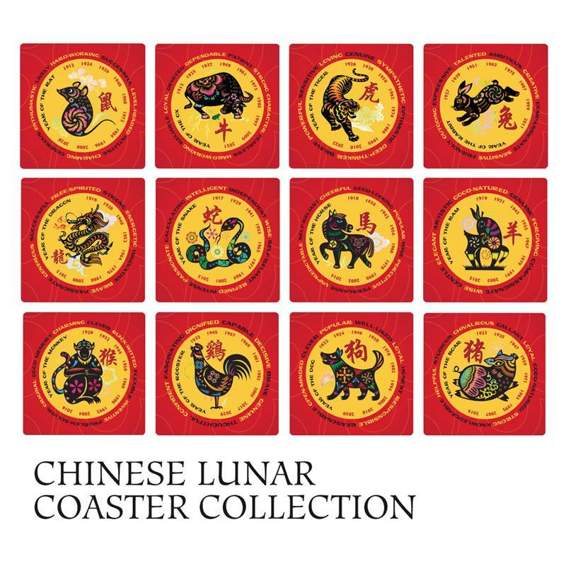Chinese Lunar Coaster Collection