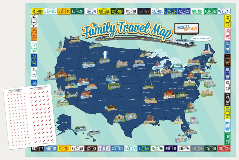 Personalized Family Travel Map