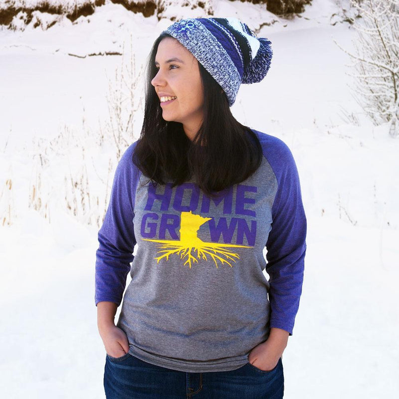 Homegrown Purple and Gold Long Sleeve Shirt