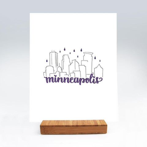 Purple Rain Minneapolis Art Print