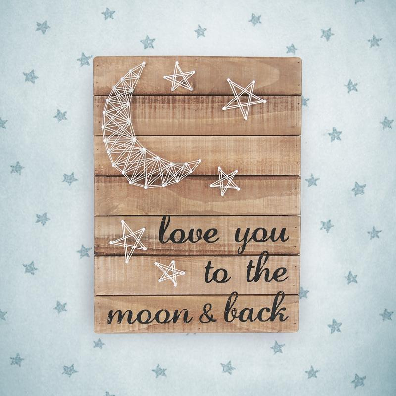 Love You to the Moon String Art