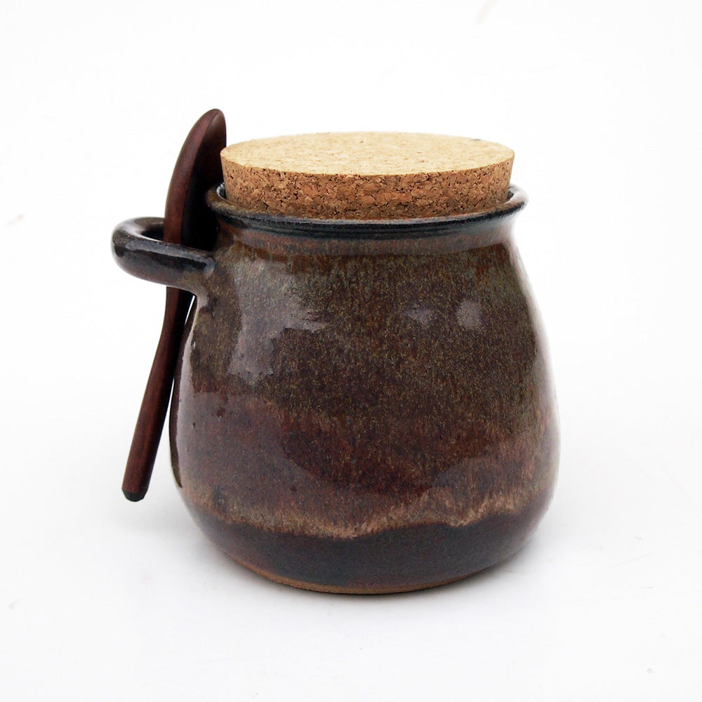 Handmade Ceramic Jar & Spoon