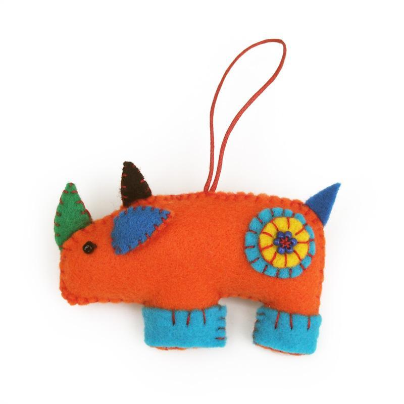 African Felt Animal Ornament Set