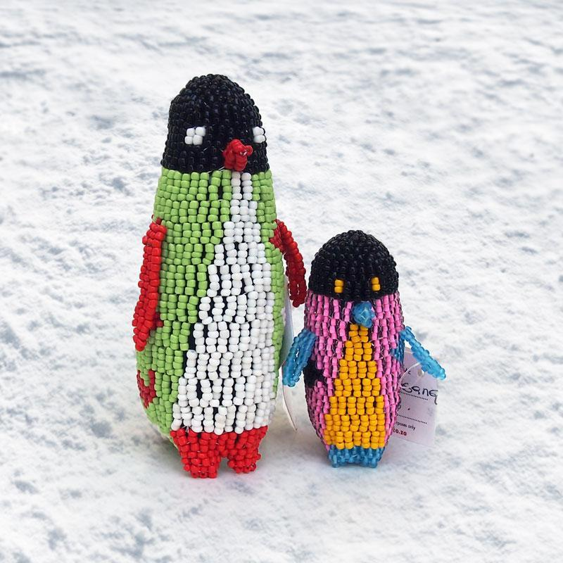 Large Hand Beaded Penguins