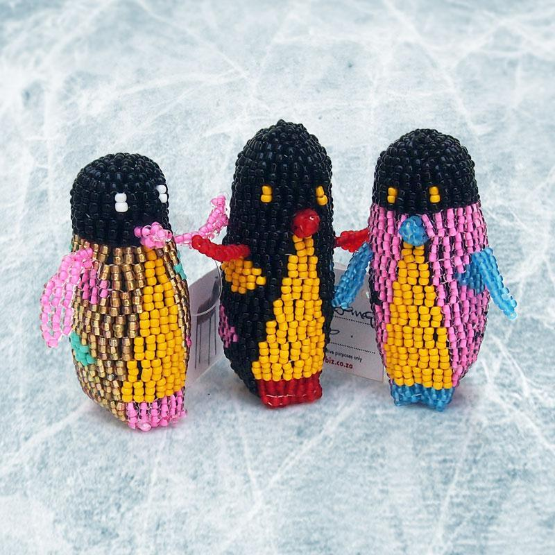 Small Hand Beaded Penguins