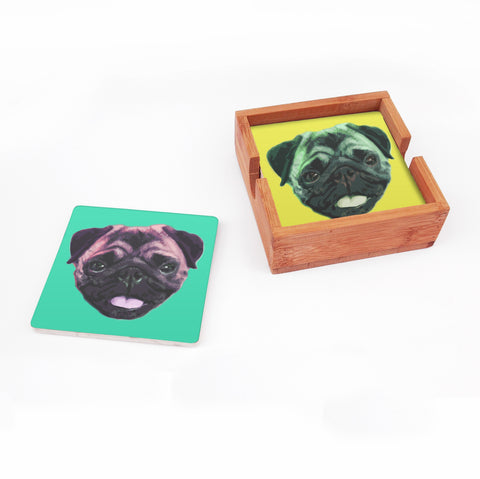 Bamboo Coaster Holder (displays 4)