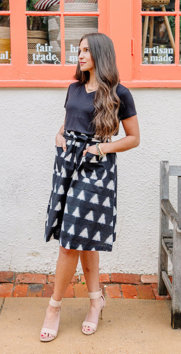 Triangles Midi Skirt