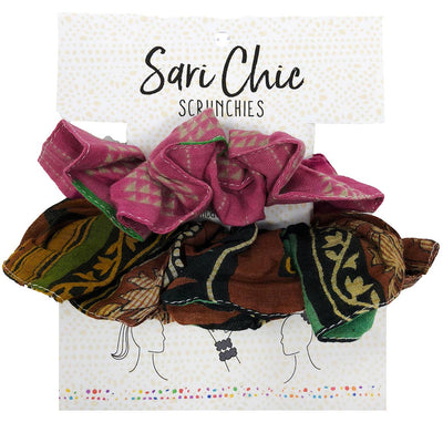 WorldFinds - Sari Chic Scrunchies - Set of 2
