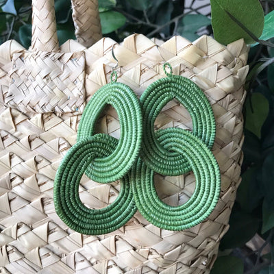 Interlocking Earrings - Lily Green - Mango + Main