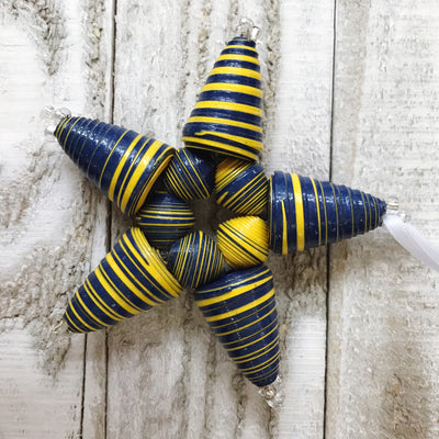 Star Ornament - Navy & Yellow - Mango + Main