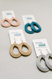 Woven Loop Earrings- Tea - Mango + Main