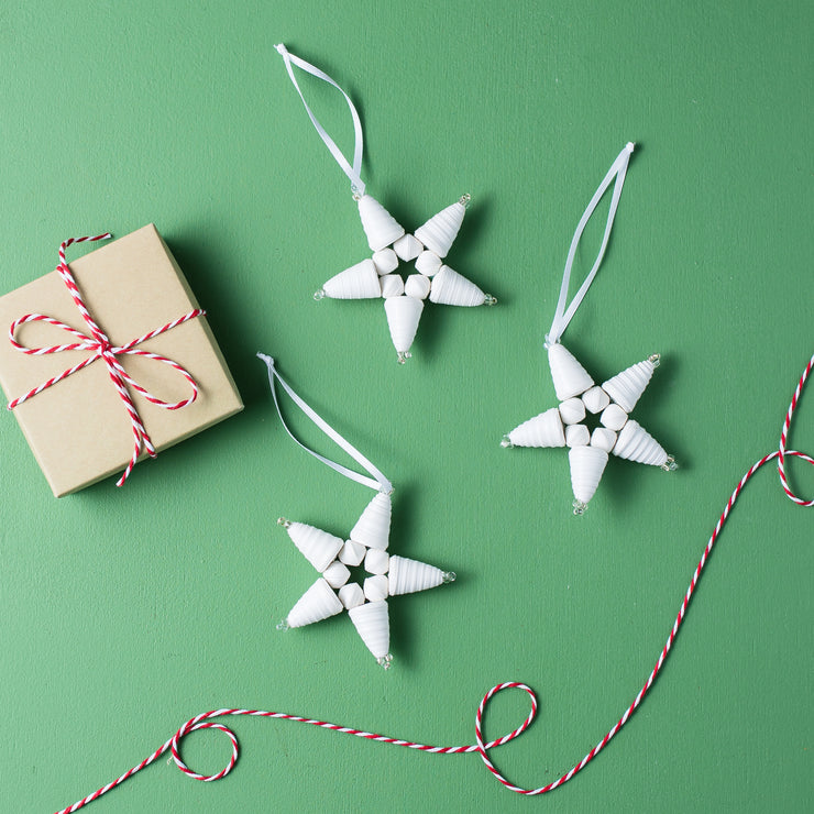 Star Ornament- White - Mango + Main