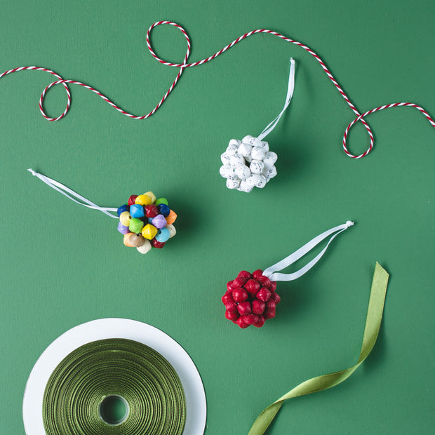 Paper Ball Ornament- Cranberry - Mango + Main