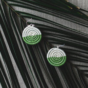 Eclipse Earrings - Lily Green - Mango + Main