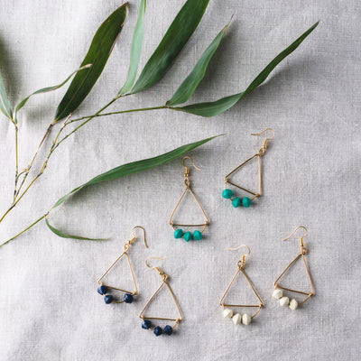 Angular Earrings - Mango + Main