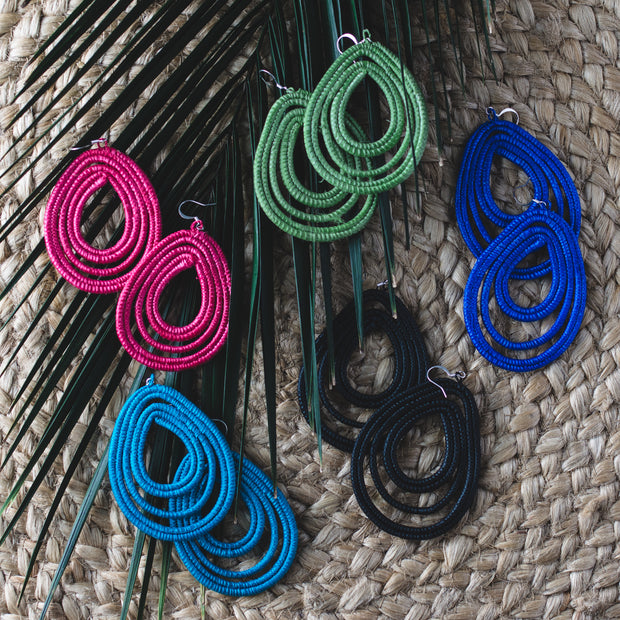 Trifecta Earrings - Royal Blue - Mango + Main