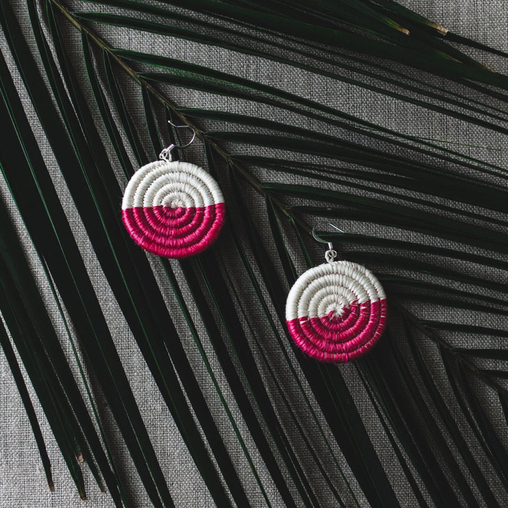 Eclipse Earrings - Coral - Mango + Main