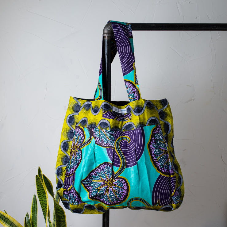 Carry All Tote- Teal Garden - Mango + Main