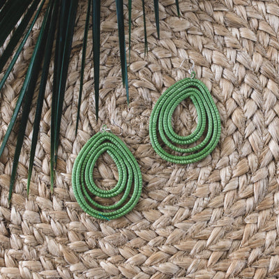 Trifecta Earrings - Lily Green - Mango + Main