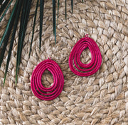 Trifecta Earrings - Coral - Mango + Main