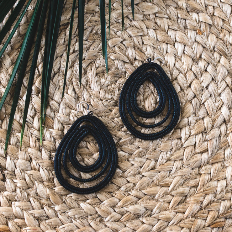 Trifecta Earrings - Black - Mango + Main
