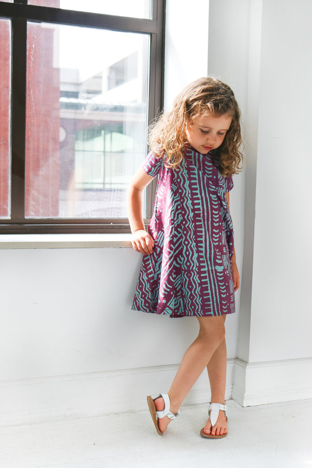 Girls Swing Dress - Rose Pathways