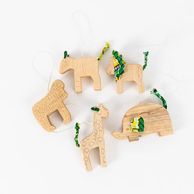 Hand-Carved Animal Ornaments