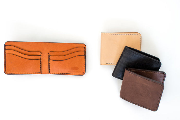 Men's Leather Wallet - Mango + Main