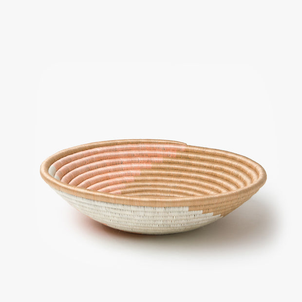 Zera Basket - Blush, White, and Tea - Mango + Main