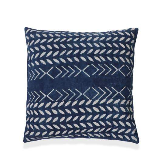 Amer Block Printed Pillow - With Filler