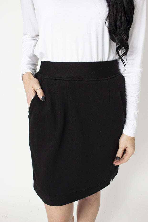Sweater Skirt - Black