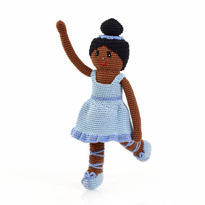 Hand Knitted Ballerina - Blue