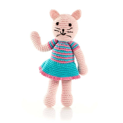 Hand Knitted Cat Girl Rattle