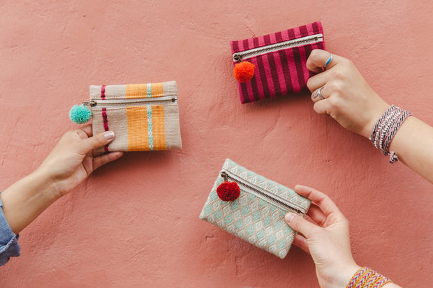 Pom Coin Purse - Mango + Main